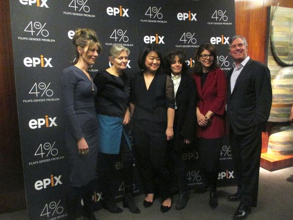 Elle Editor-in-Chief Robbie Myers, Mary Harron, Caroline Suh, Amy Heckerling, Dr. Stacy Smith and Epix president-CEO Mark Greenberg